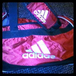 Red adidas duffle bag
